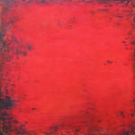 "Red Interlude 20x20"" Acrylic on Canvas Feb 2011"